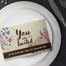 Silk Flat Invitation Printing